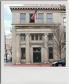 A poloroid snapshot of 477 H st. NW. Bill London Design Group is turning this historic building into offices and bar.