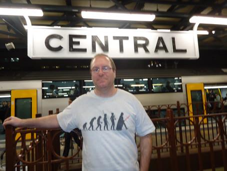 Me at Central station Sydney, Australia