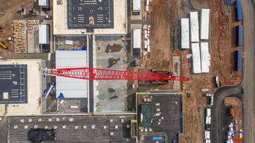 Construction Site Drone Photography