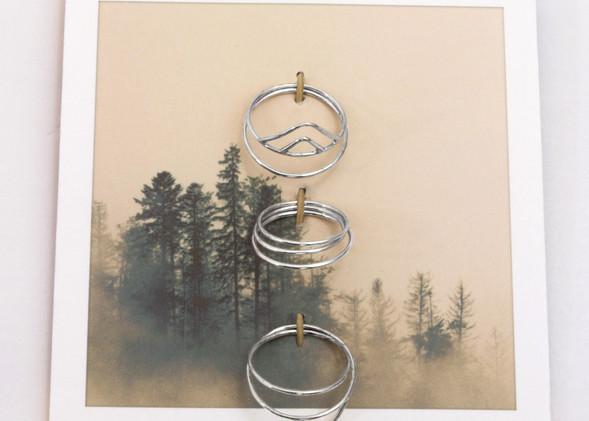 Road Trip Ring Set - Silver