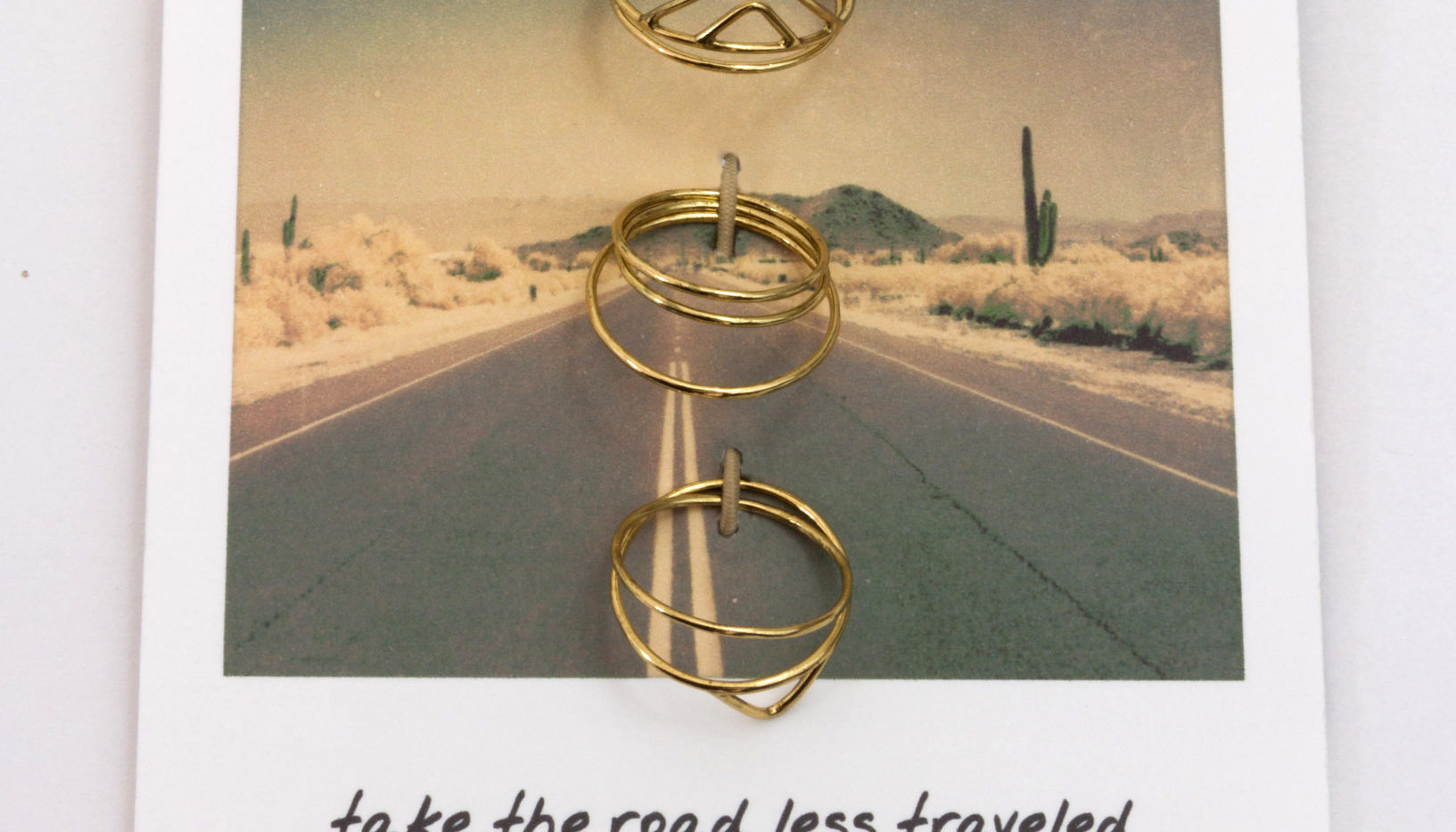 Road Trip Ring Set - Gold
