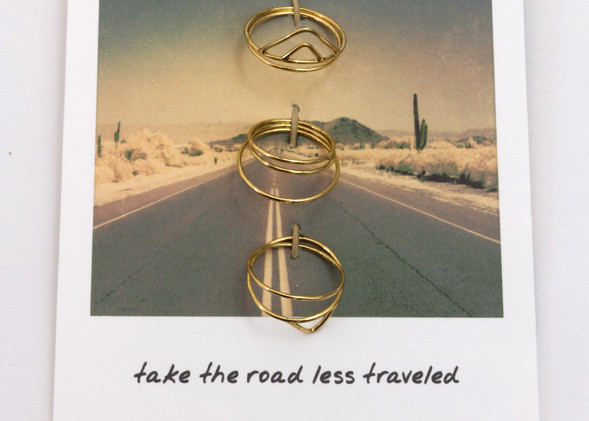 Road Trip Ring Set - Gold