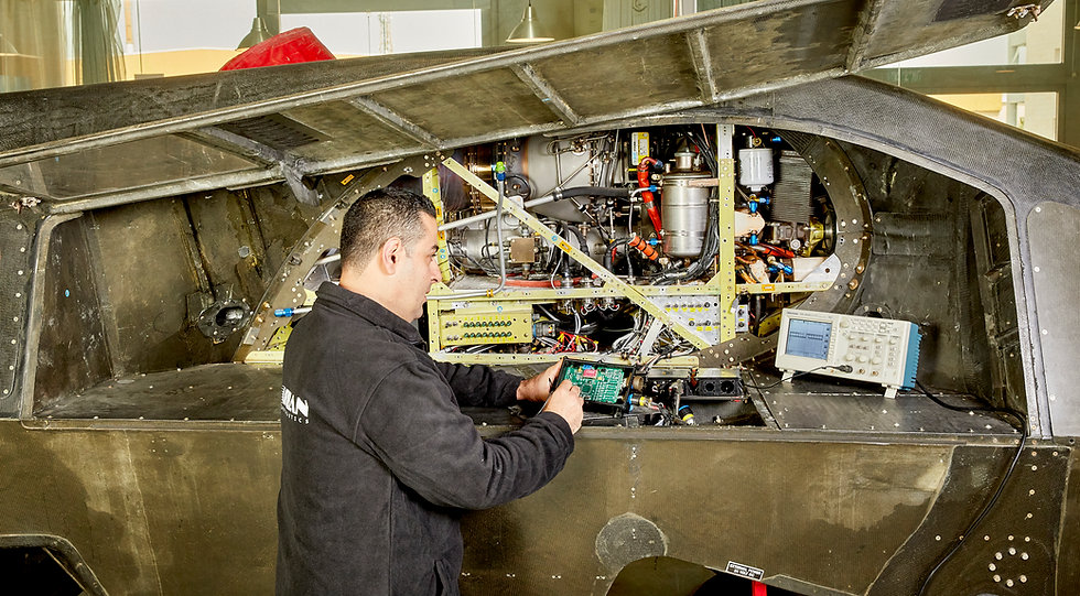 Urban Aeronautics electric engineer working on the tech demonstrator Vtol