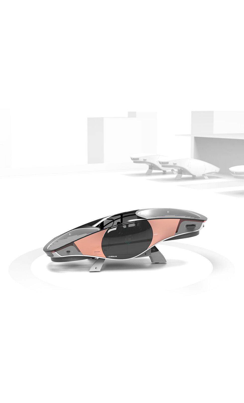 Urban Aeronautics' flying vehicle, designed for safe inner city transportation