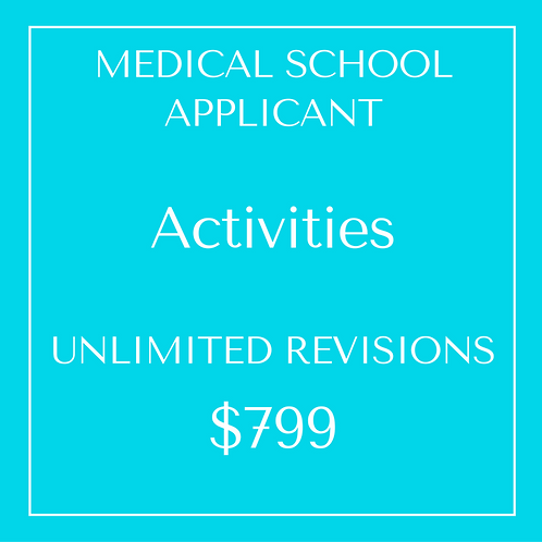 Activities - Unlimited Revisions