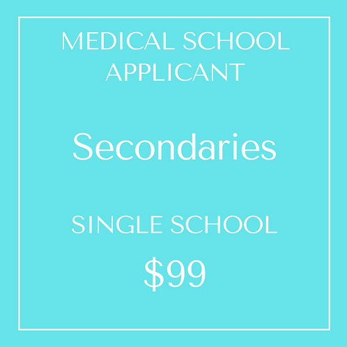 Secondaries - Single School