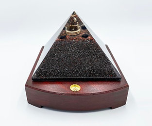 Made to Order: Deluxe 140mm Orgone Pyramid with Compass Base
