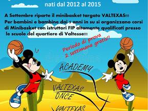 Riparte anche il Minibasket Valtexas!!