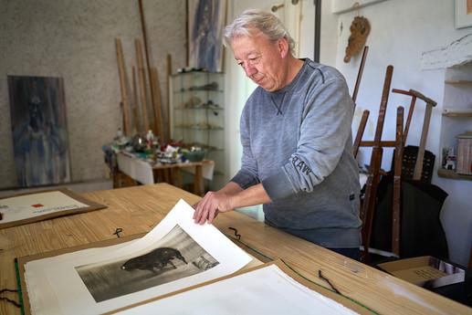 Portrait de l'artiste Didier Cros Par le