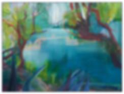 Huile sur toile - Jungle Harbour - Julie