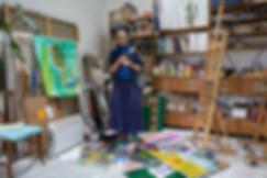 Juliette June dans son atelier - ATEKA.j