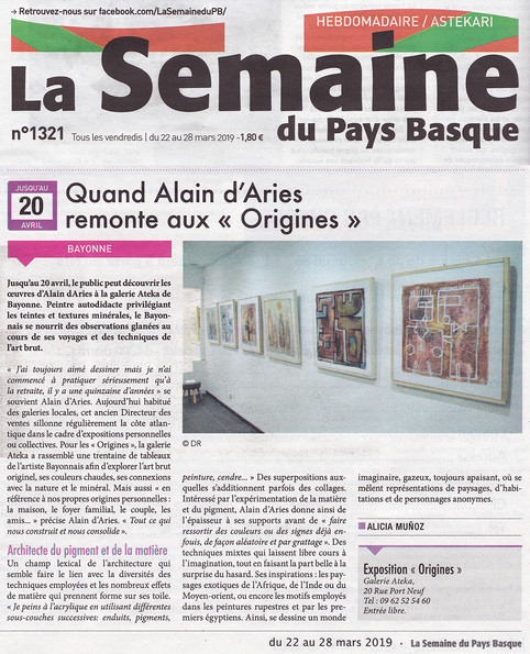 Article exposition Origines - Alain D'ar