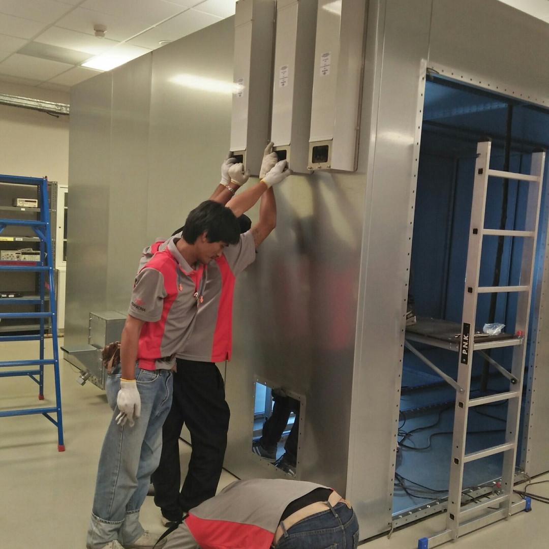 Shield Room Installation 10
