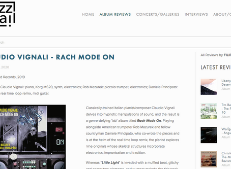"(ENG) ""Rach Mode On"" reviewed by ""JazzTrail"" NYC"