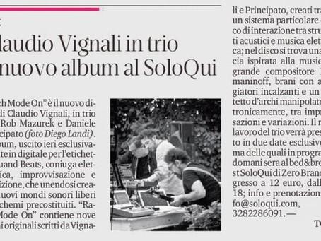 """(IT)""""Rach Mode On"""" sulla """"Tribuna"""" di Treviso"""