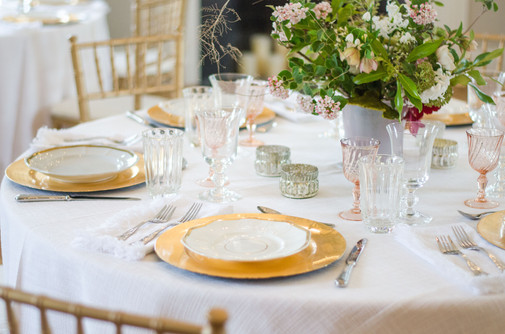 Romantic table settings in the greenhouse make for a memorable event.