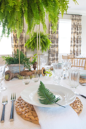 We can do a lot with budget friendly live plants for a Spring wedding.