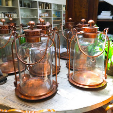 Large Copper Hurricane Lantern
