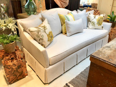 Box Pleated Skirted Sofa