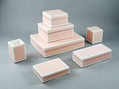 Hand Laquered and Polished Pale Pink Boxes