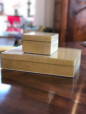 Hand Laquered and Polished Gold Box