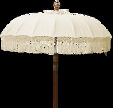 Natural Fringe Umbrella