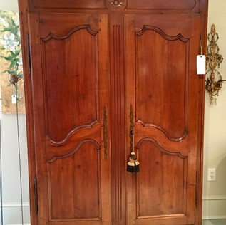 French Armoire with Sunflower Motif