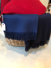 Alpaca Navy Throw