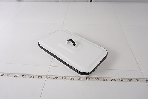 Enamel Surgical Ware Tray With Lid - White