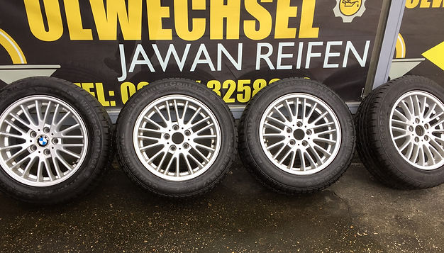 4x BMW Alufelgen gebraucht Jawan Reifen und Autoservice