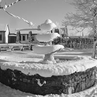 snow fountain