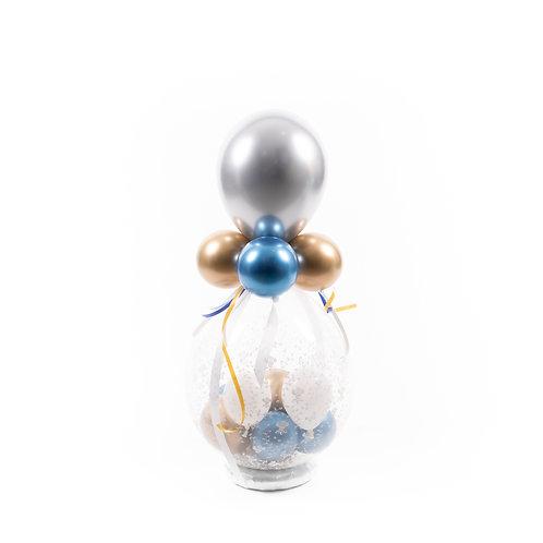Gevulde ballon / Idee 5 (chrome / feestelijke gevuld en versierd)