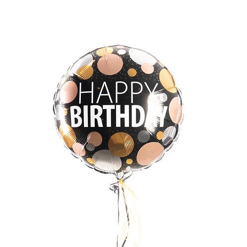 Verjaardag - Gouden en zilveren en roze bollen