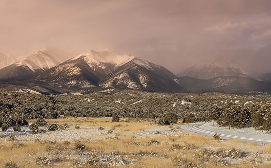 Sawatch Mountain Range Covered in Freshl