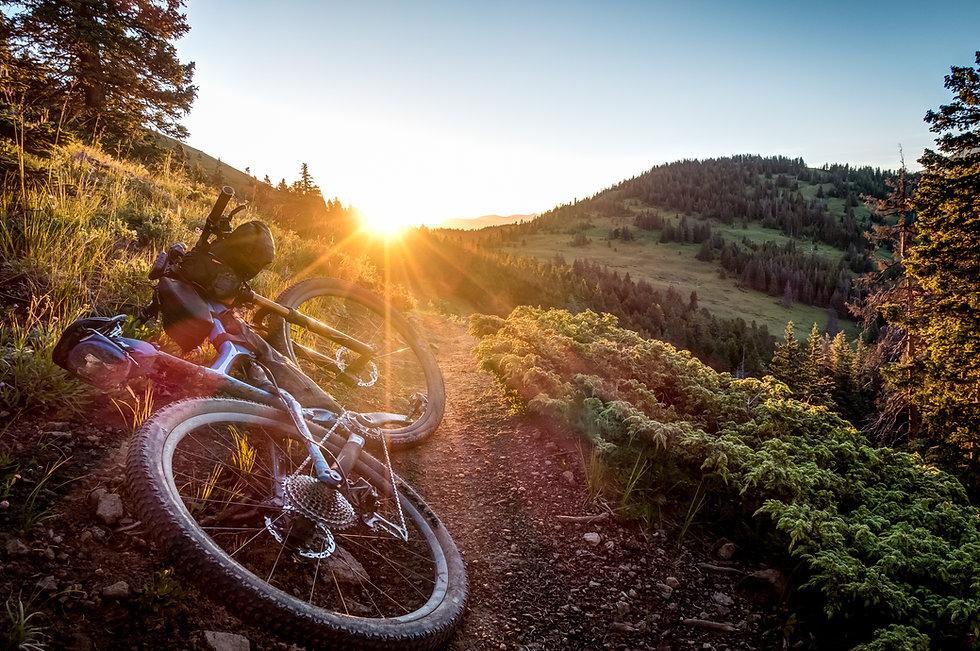Bikepacking sunrise on the Colorado Trai