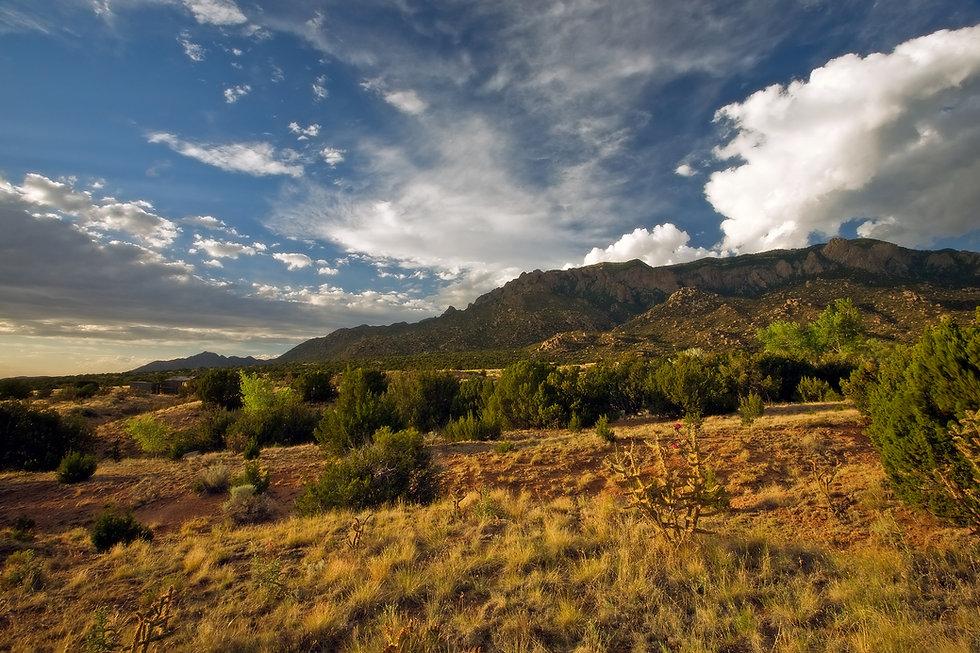 The beautiful Sandia Mountains and surro