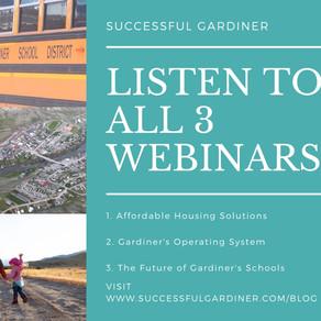 Listen to All 3 Webinars