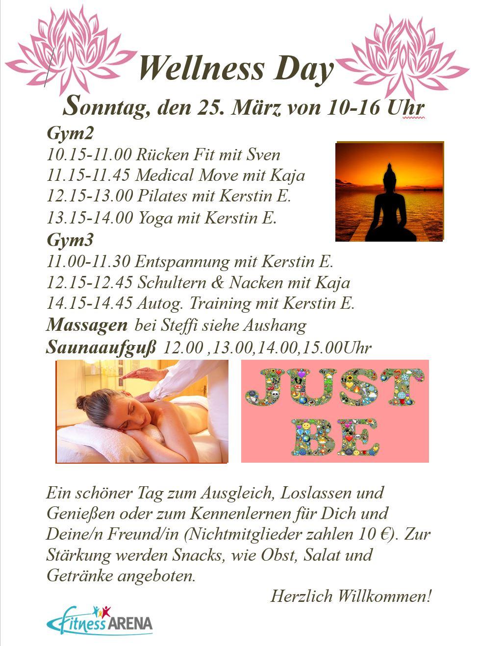 Wellness Day - Sonntag, den 25. März von 10-16 Uhr in der FITNESS ...