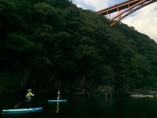 静かな安房川でのんびりSUPしてきました!
