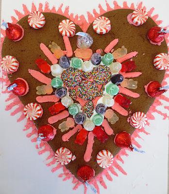 Jumbo Cookie: Giant Gingerbread Heart