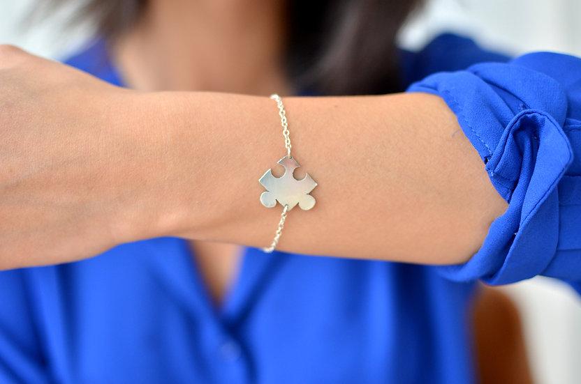 Bracelet Puzzle Bleu