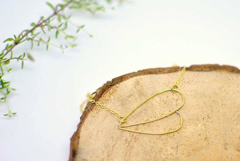 Double drop - Gold necklace