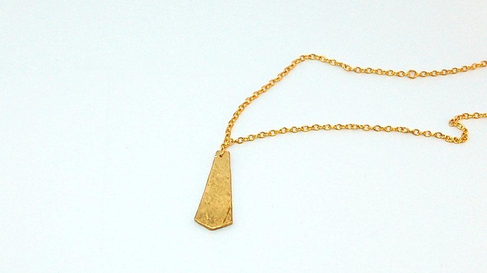 Collier MARSAN / laiton doré et argent