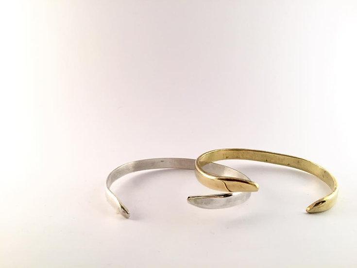 Le Duo de bracelets YEO / doré + argent