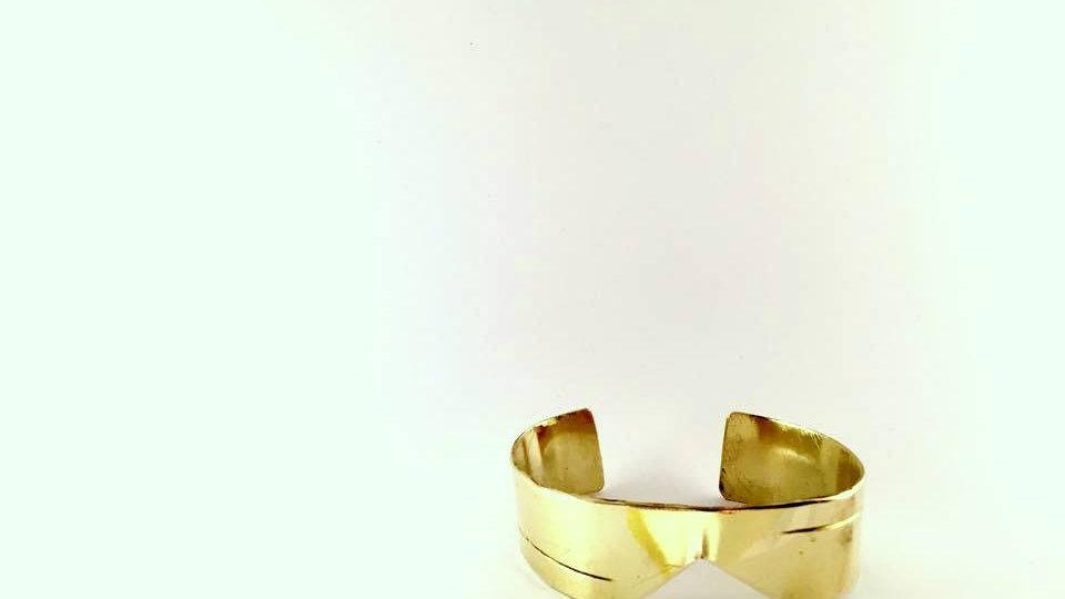 Manchette LOBUTAM + Bague BUTAM / laiton doré