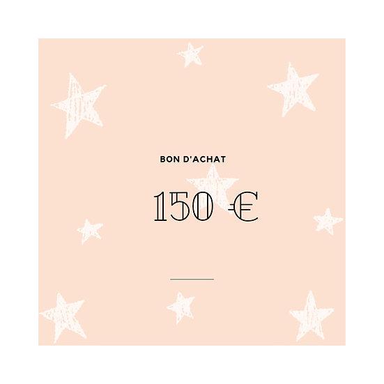 Bon cadeau 150,-€