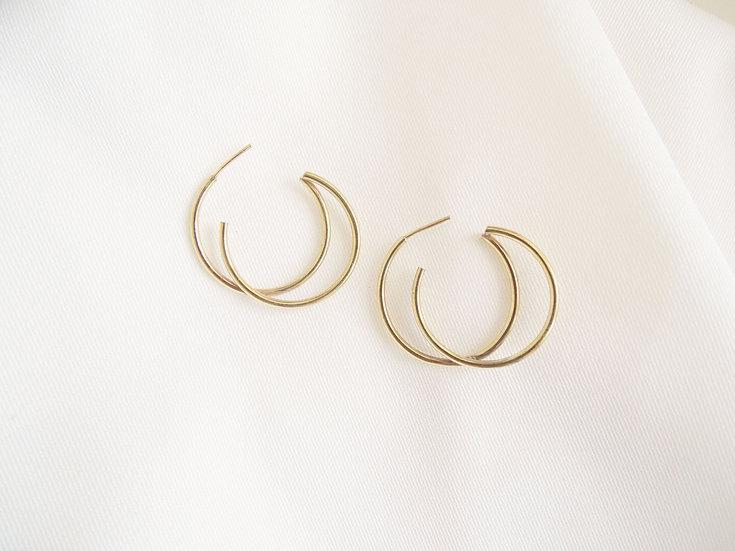 Boucles d'oreille HAIRO dorées