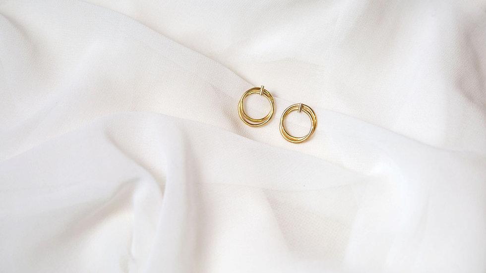 Boucles d'oreille VOMHAI dorées