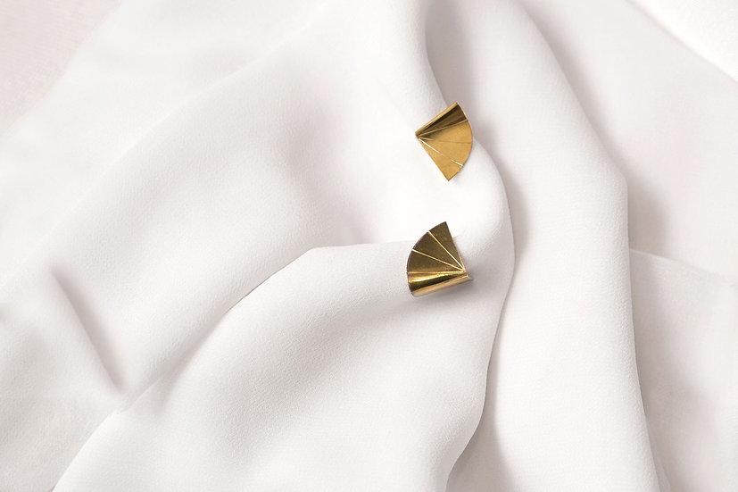 Boucles d'oreille PILAM dorées
