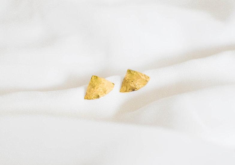 Boucles d'oreille TRIBON dorées